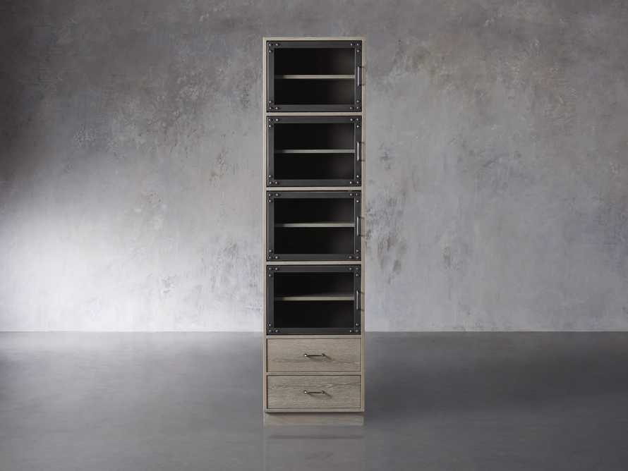 Curiosity Modular 5 Cubby Cabinet in Pebble Grey, slide 1 of 4