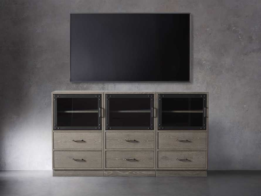 "Curiosity 66"" Display Media Wall Unit in Pebble Grey, slide 3 of 4"