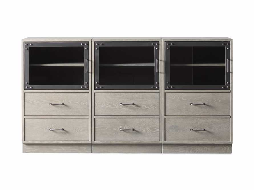 "Curiosity 66"" Display Media Wall Unit in Pebble Grey, slide 4 of 4"