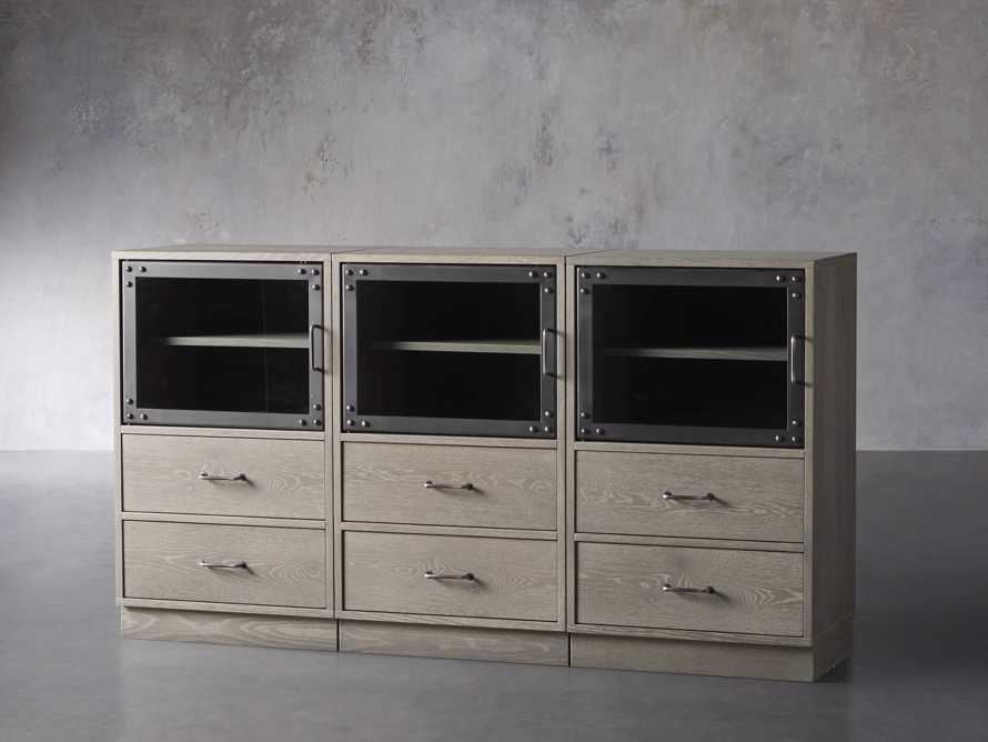 "Curiosity 66"" Display Media Wall Unit in Pebble Grey, slide 2 of 4"