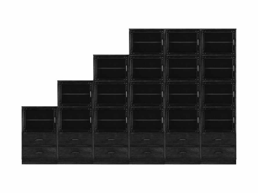 "Curiosity 132"" Ascending Wall Unit In Black, slide 2 of 2"