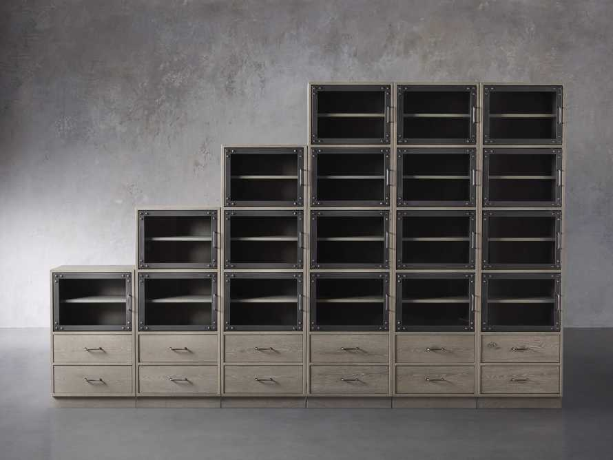 "Curiosity 132"" Ascending Wall Unit in Pebble Grey, slide 1 of 3"