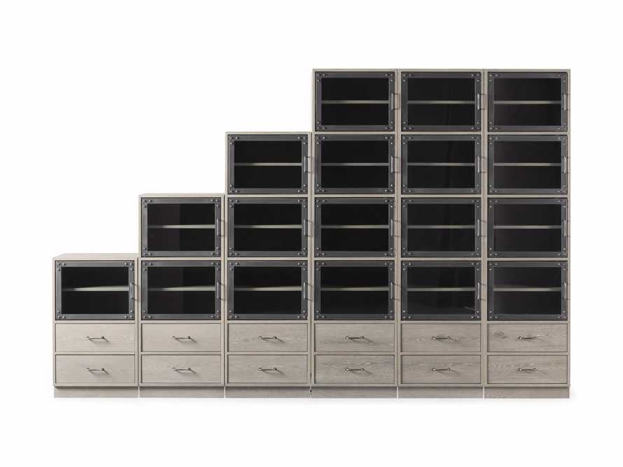 "Curiosity 132"" Ascending Wall Unit in Pebble Grey, slide 3 of 3"