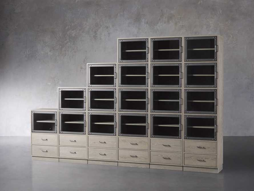 "Curiosity 132"" Ascending Wall Unit in Pebble Grey, slide 2 of 3"