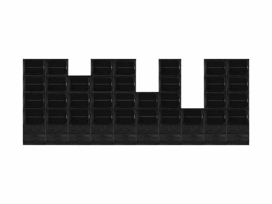 "Curiosity 220"" Grand Display Wall Unit In Black, slide 2 of 2"