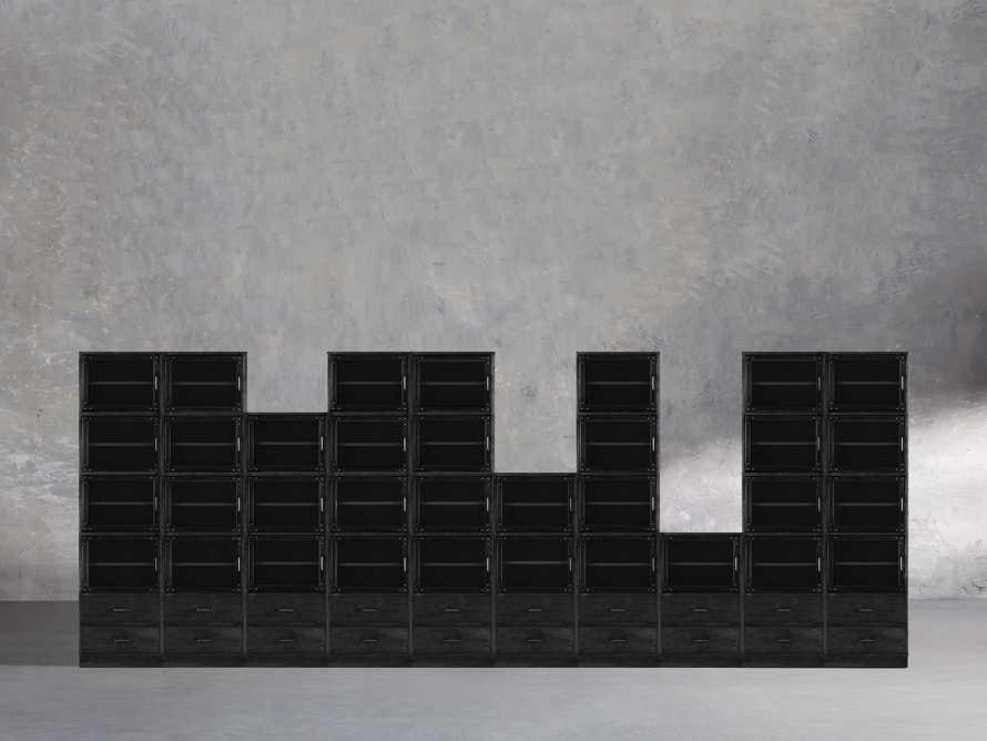 "Curiosity 220"" Grand Display Wall Unit In Black, slide 1 of 2"