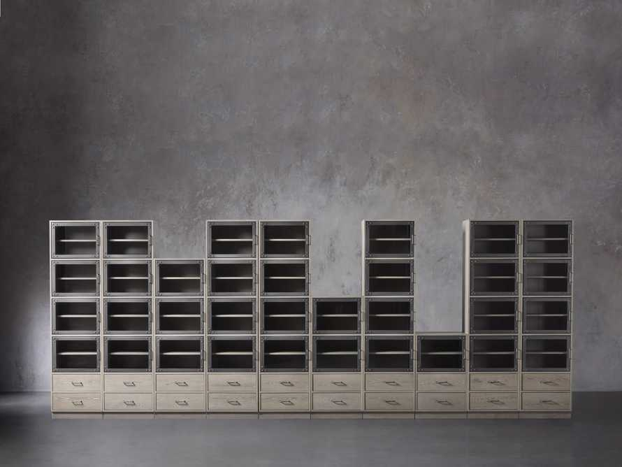 "Curiosity 220"" Grand Display Wall Unit in Pebble Grey, slide 1 of 4"