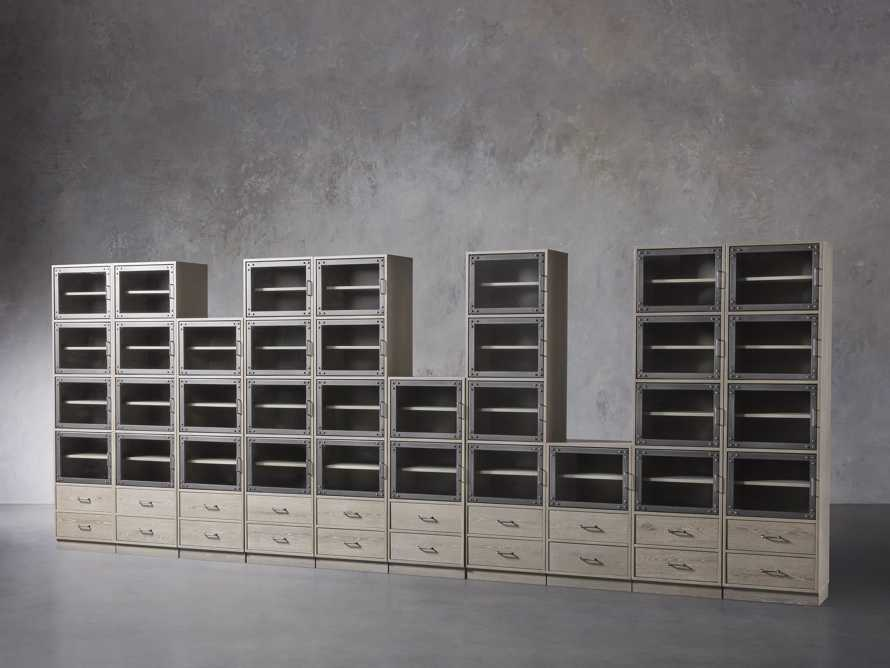 "Curiosity 220"" Grand Display Wall Unit in Pebble Grey, slide 2 of 4"