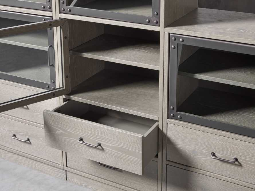"Curiosity 220"" Grand Display Wall Unit in Pebble Grey, slide 3 of 4"