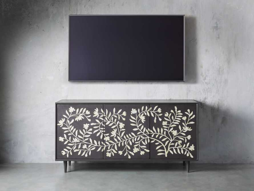 "Divya 64"" Media Console in Ebony, slide 3 of 5"