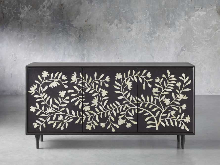 "Divya 64"" Media Console in Ebony, slide 1 of 5"