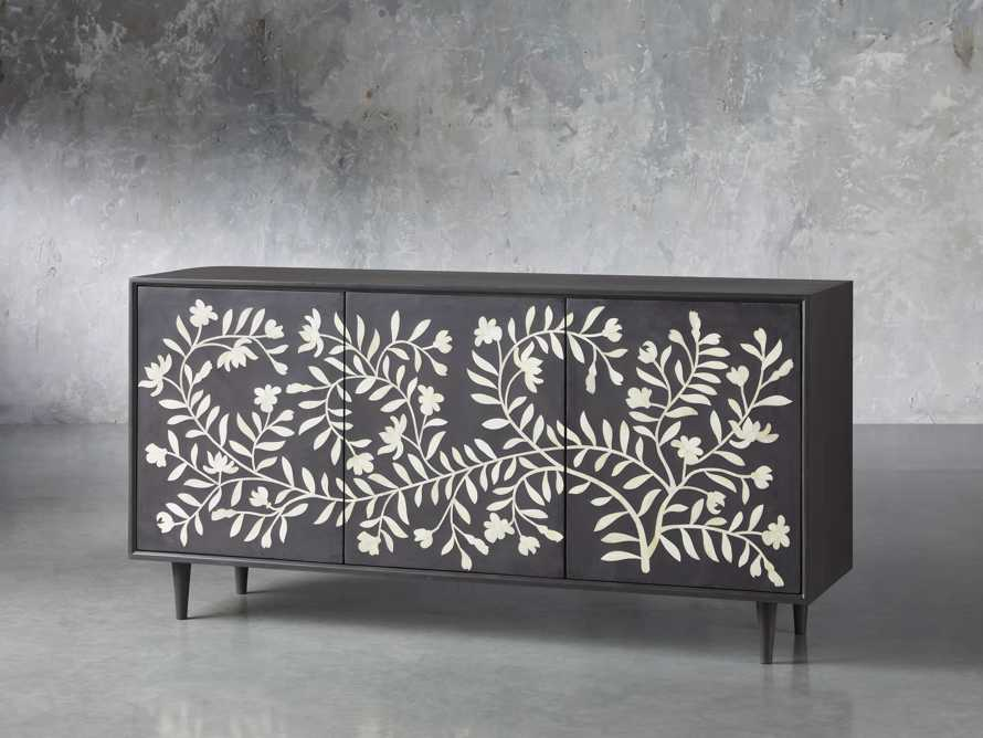 "Divya 64"" Media Console in Ebony, slide 2 of 5"