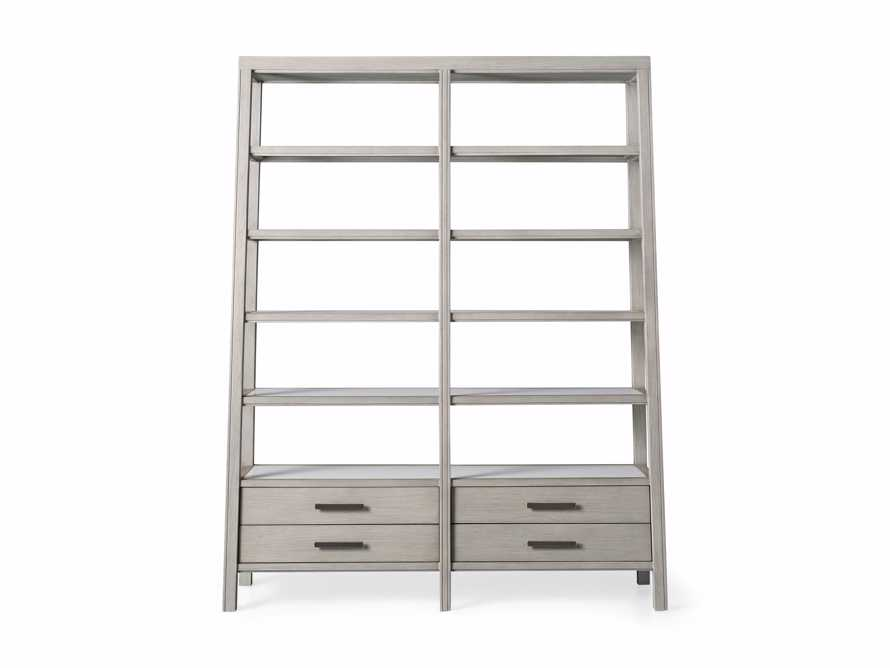 "Euclid 64.25"" Double Bookcase in Boulder Grey, slide 5 of 5"