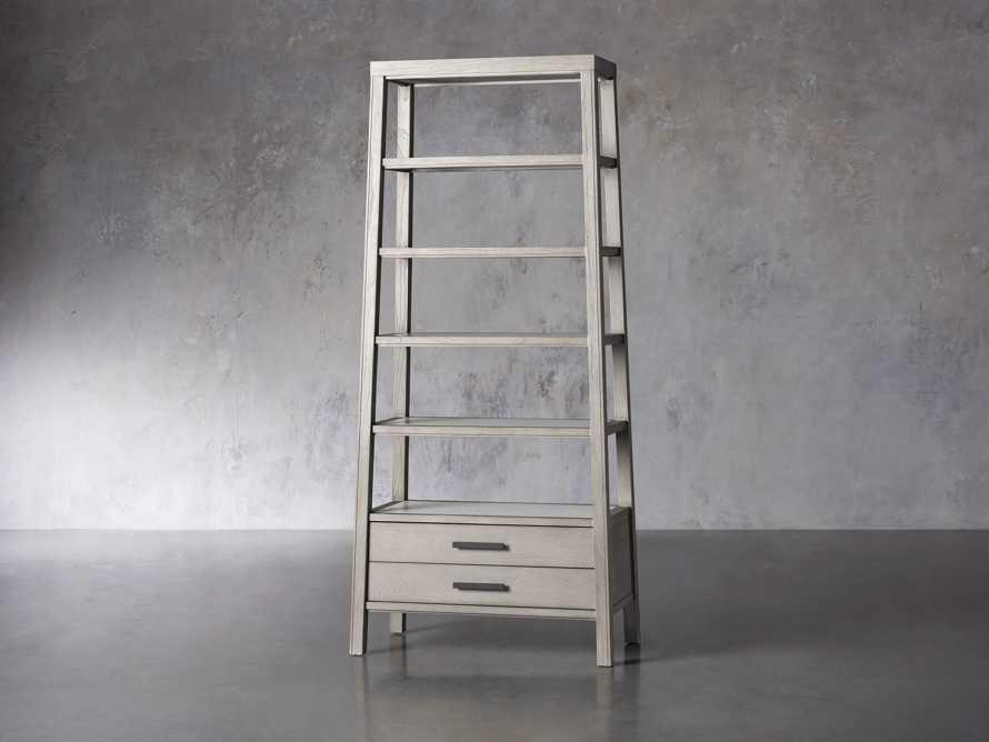 """Euclid 36"""" Single Bookcase in Boulder Grey, slide 2 of 4"""