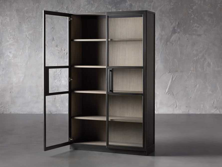 "Factory Frame 48"" Cabinet in Usine Black, slide 3 of 6"