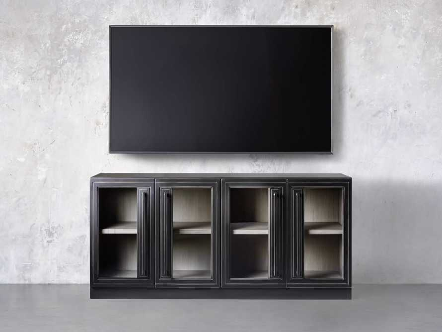 "Factory Frame 60"" Media Console in Usine Black, slide 3 of 4"