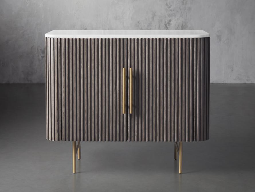 "Finnley 36"" 2 Door Cabinet in Liath Smoke with Marble Top, slide 1 of 6"
