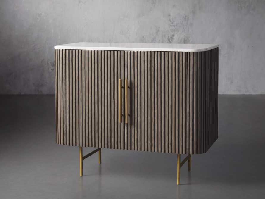 "Finnley 36"" 2 Door Cabinet in Liath Smoke with Marble Top, slide 2 of 6"
