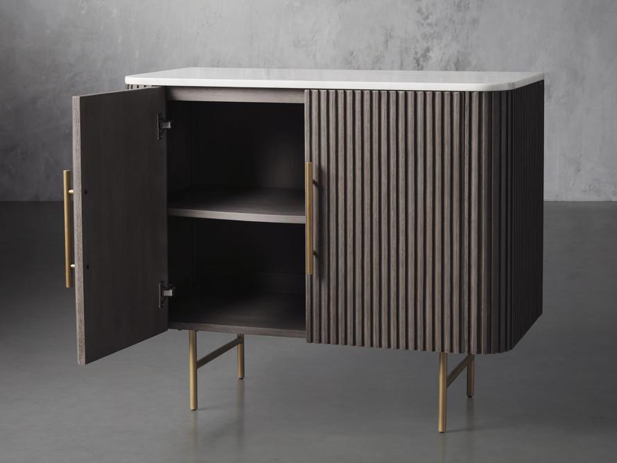 "Finnley 36"" 2 Door Cabinet in Liath Smoke with Marble Top, slide 3 of 6"