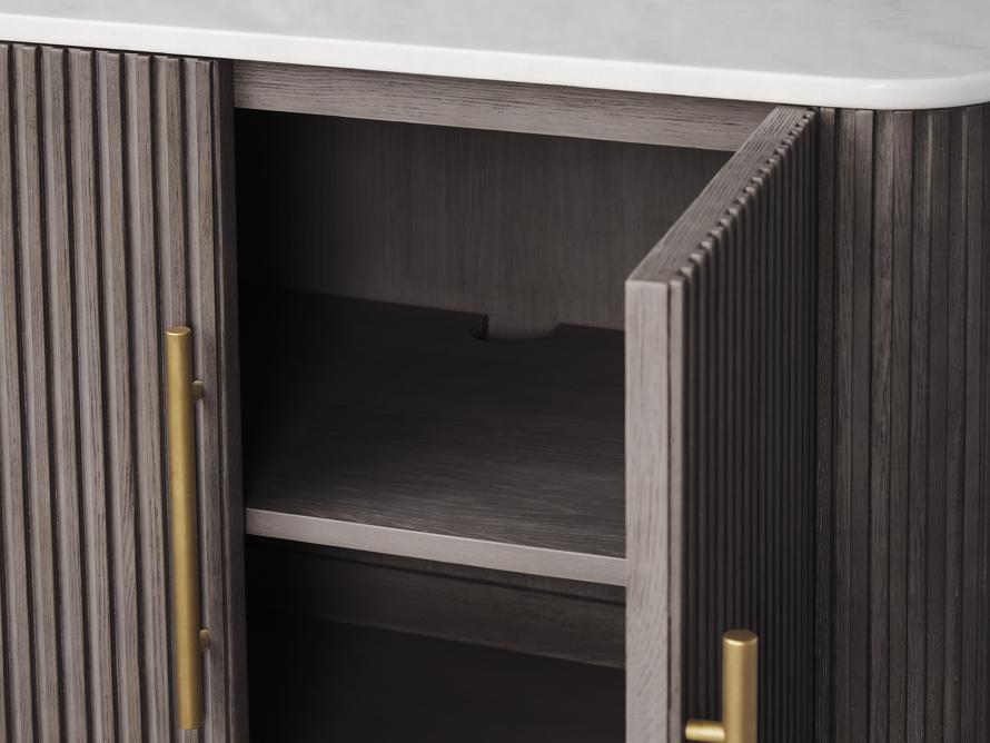 "Finnley 36"" 2 Door Cabinet in Liath Smoke with Marble Top, slide 4 of 6"