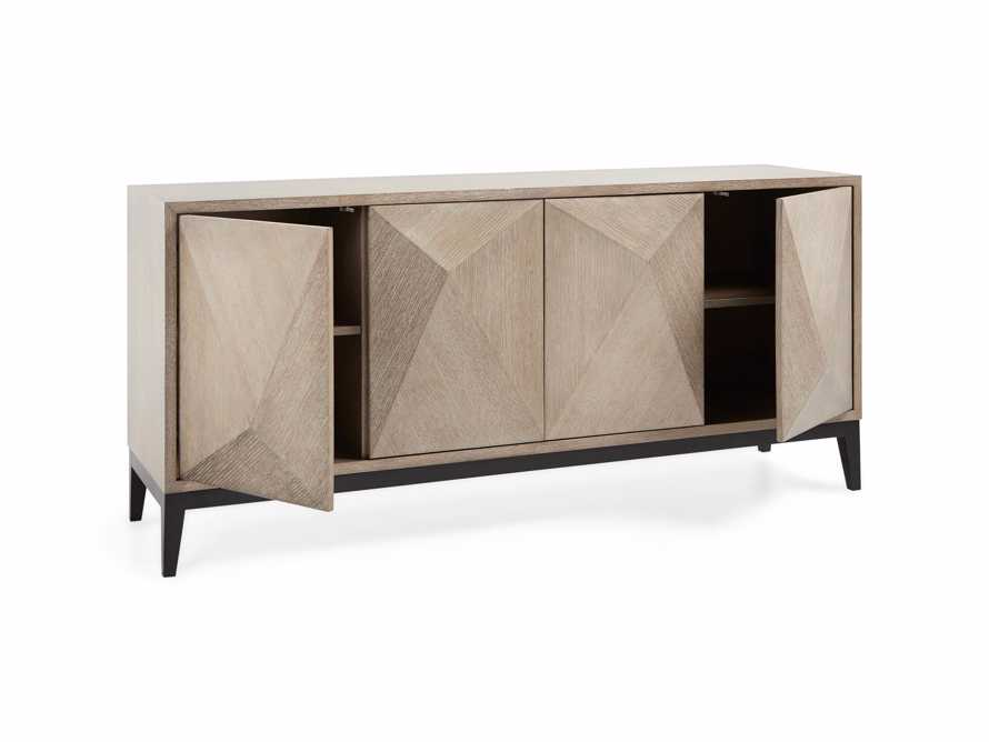 "Geometric 69"" Media Cabinet in Jepara Natural, slide 6 of 9"
