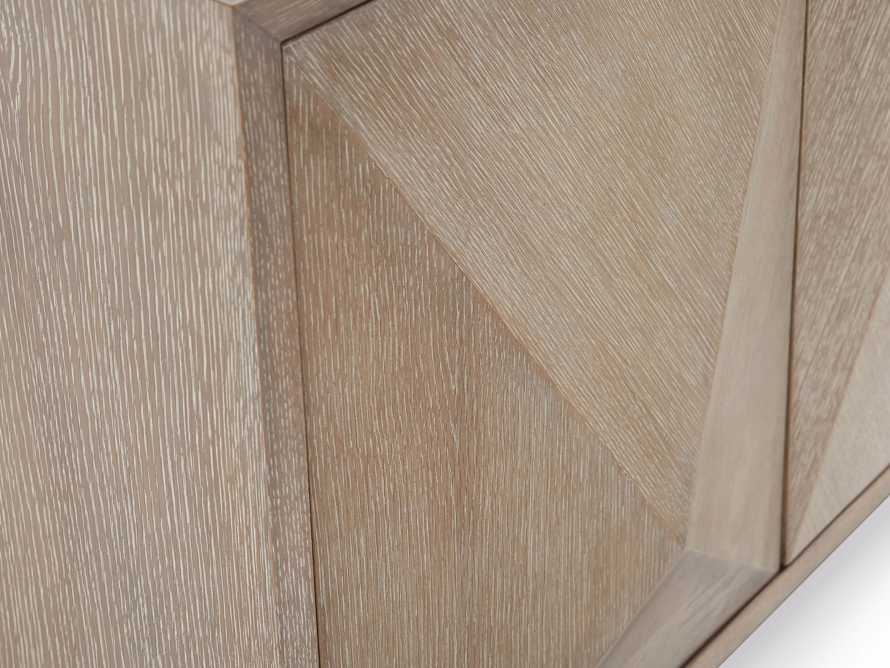 "Geometric 69"" Media Cabinet in Jepara Natural, slide 9 of 9"