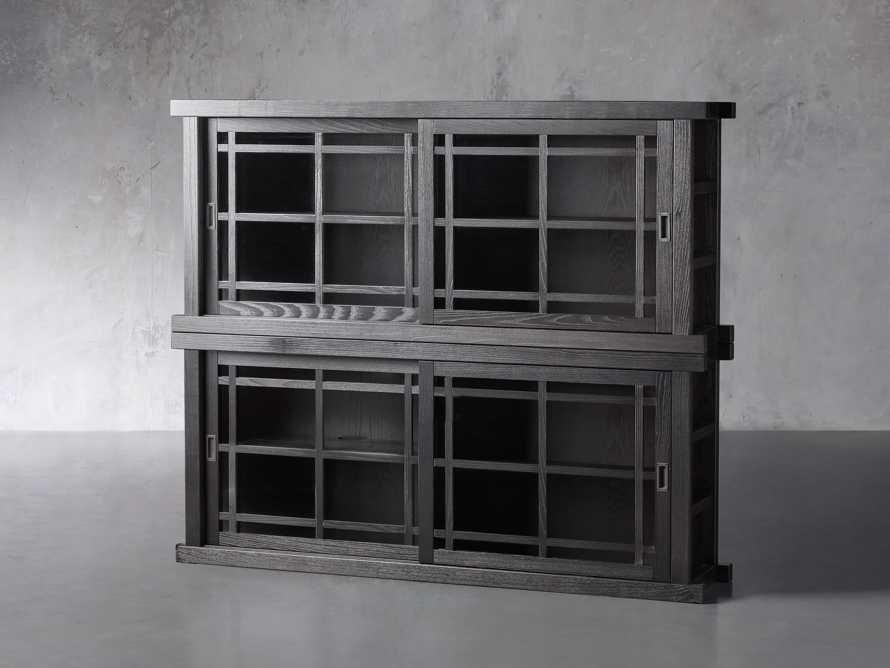 "Spencer 71"" Double Cabinet in Ebony, slide 2 of 4"