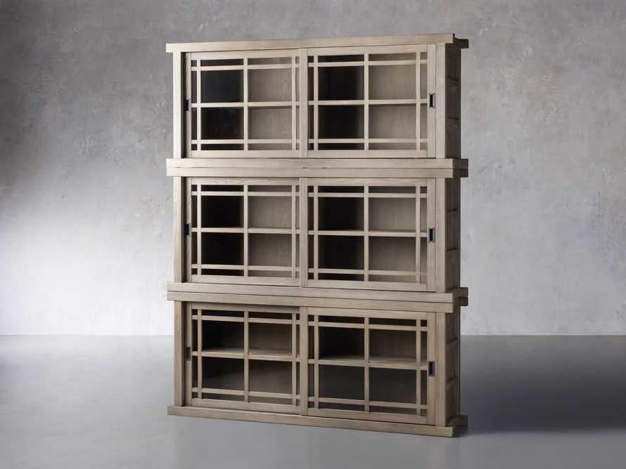 "Sullivan 71"" Triple Cabinet in Shiitake, slide 2 of 4"