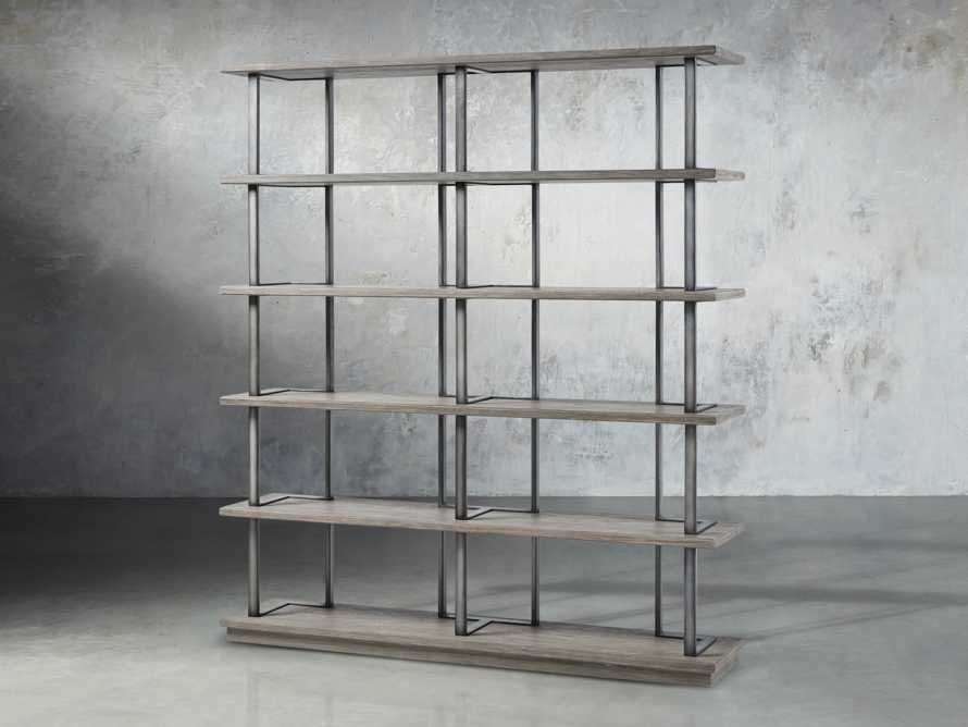 """Madison 70"""" Double Bookcase in Stone on Ash, slide 2 of 7"""