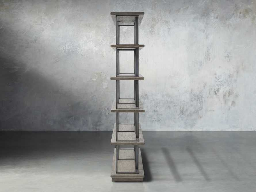 """Madison 70"""" Double Bookcase in Stone on Ash, slide 3 of 7"""