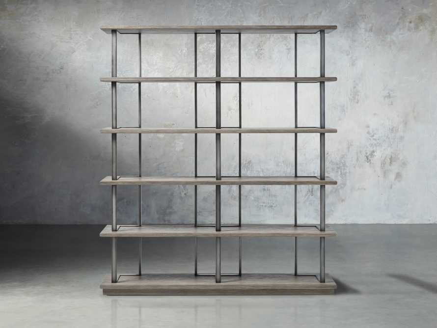 """Madison 70"""" Double Bookcase in Stone on Ash, slide 1 of 7"""