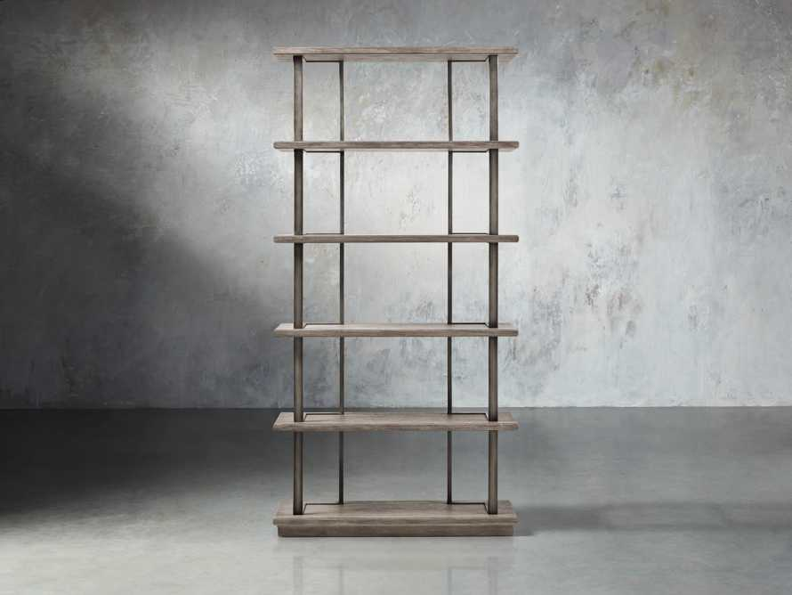 "Madison 40"" Single Bookcase in Stone on Ash"