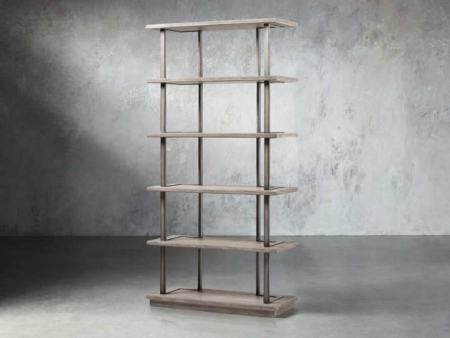 "Madison 40"" Single Bookcase in Stone on Ash"
