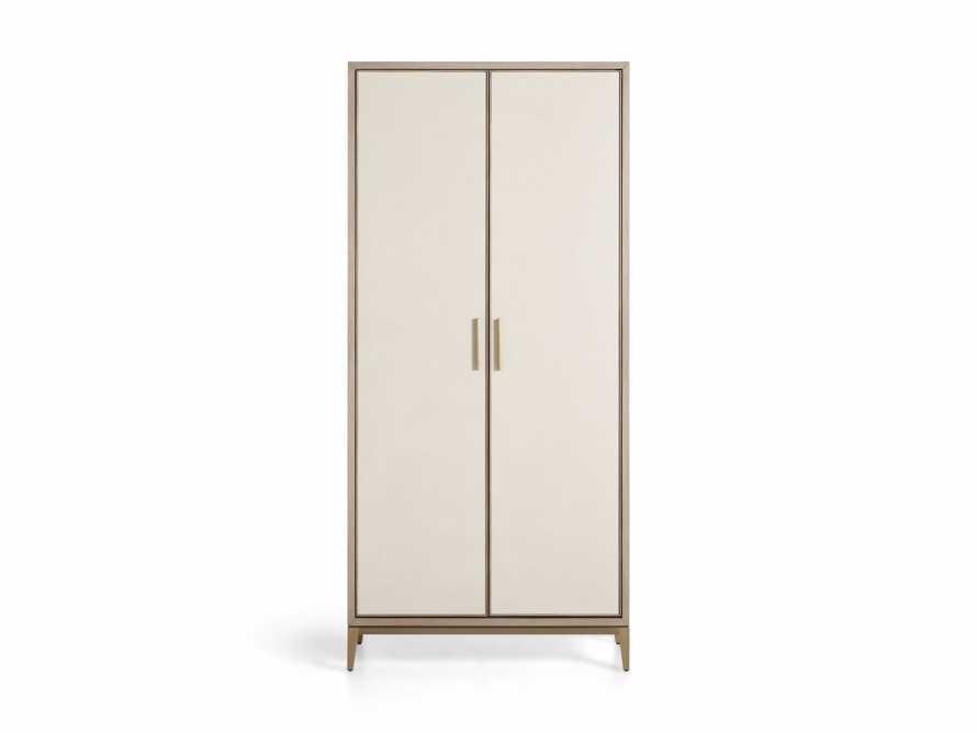 "Malone 38"" Display Cabinet in Shagreen Bone, slide 8 of 9"