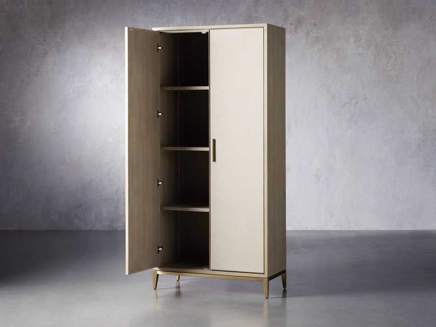 "Malone 38"" Display Cabinet in Shagreen Bone, slide 3 of 9"