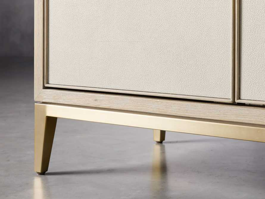 "Malone 38"" Display Cabinet in Shagreen Bone, slide 5 of 9"