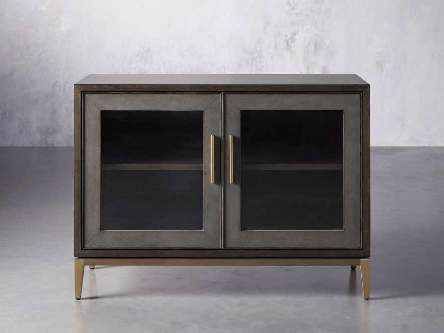 """Malone 43"""" Two Door Cabinet with Glass Doors in Dark Walnut, slide 1 of 7"""