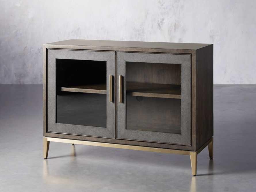 """Malone 43"""" Two Door Cabinet with Glass Doors in Dark Walnut, slide 2 of 7"""