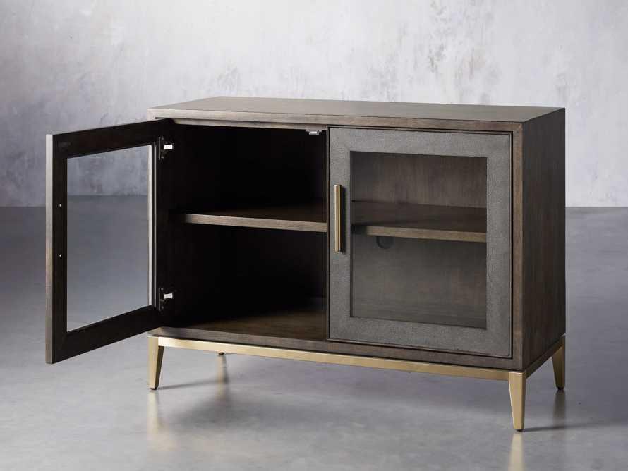 """Malone 43"""" Two Door Cabinet with Glass Doors in Dark Walnut, slide 3 of 7"""