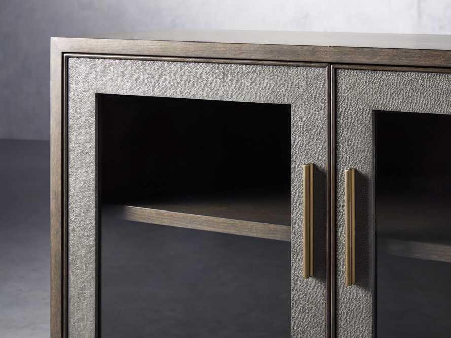 """Malone 43"""" Two Door Cabinet with Glass Doors in Dark Walnut, slide 5 of 7"""