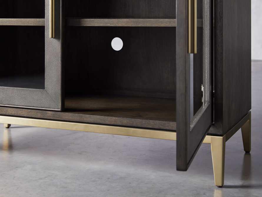 """Malone 43"""" Two Door Cabinet with Glass Doors in Dark Walnut, slide 4 of 7"""