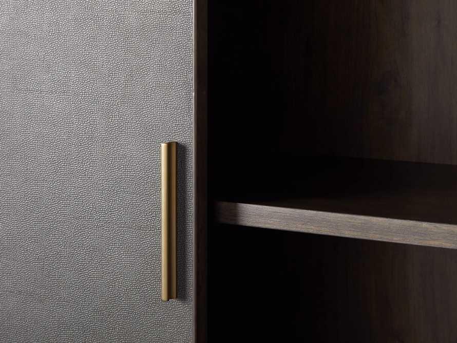 "Malone 38"" Display Cabinet in Dark Walnut"