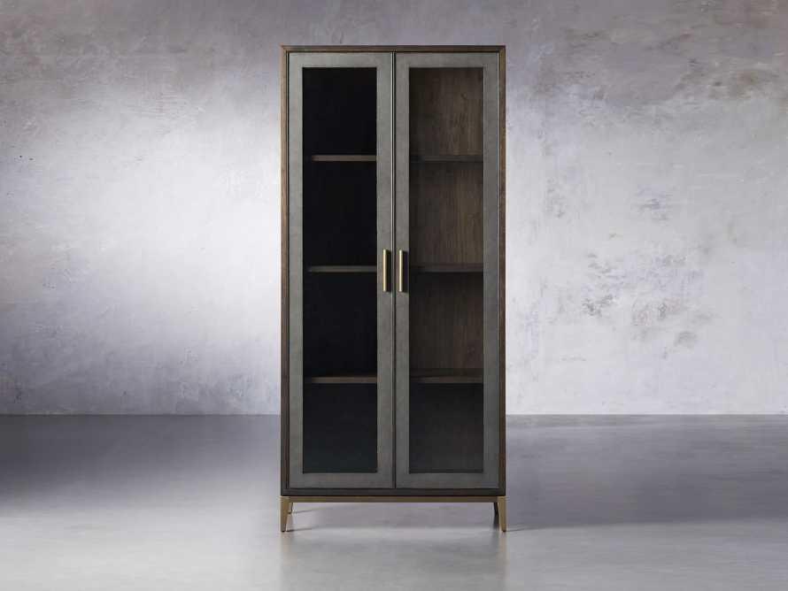 "Malone 38"" Display Cabinet with Glass Doors in Dark Walnut, slide 1 of 8"