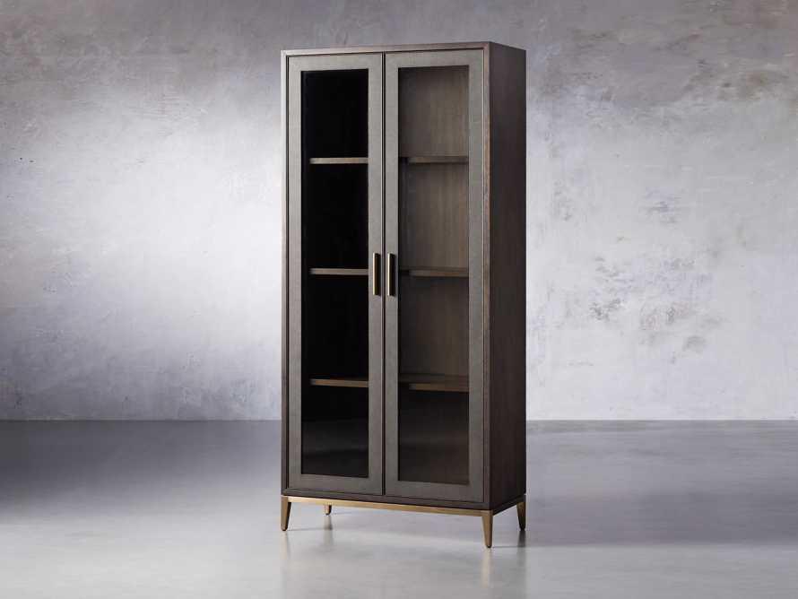 "Malone 38"" Display Cabinet with Glass Doors in Dark Walnut, slide 2 of 8"