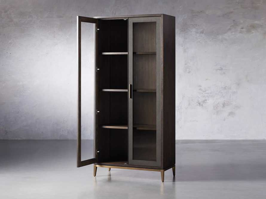"Malone 38"" Display Cabinet with Glass Doors in Dark Walnut, slide 3 of 8"