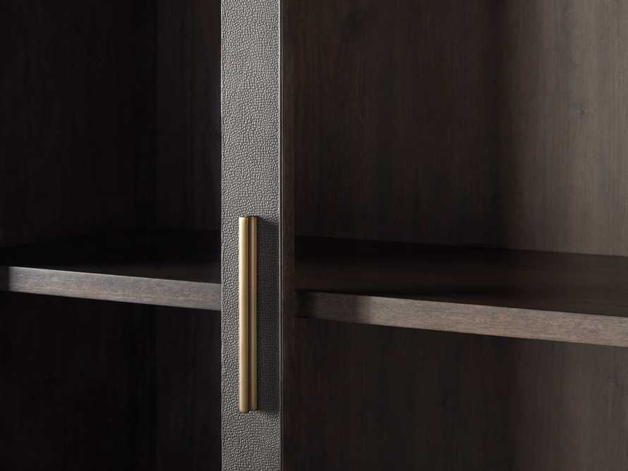 "Malone 38"" Display Cabinet with Glass Doors in Dark Walnut, slide 5 of 8"