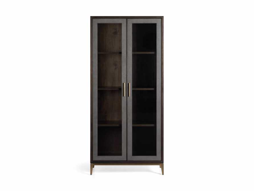 "Malone 38"" Display Cabinet with Glass Doors in Dark Walnut, slide 7 of 8"