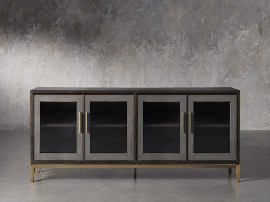 "Malone 71"" Media Console with Glass Doors in Dark Walnut, slide 1 of 8"
