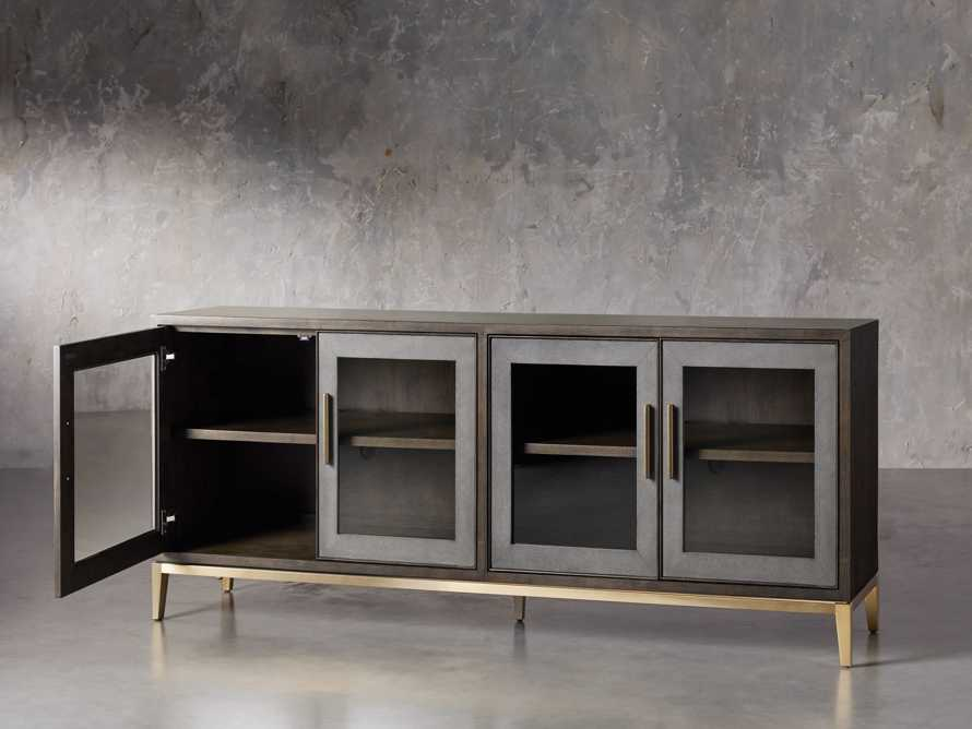 "Malone 71"" Media Console with Glass Doors in Dark Walnut, slide 3 of 8"
