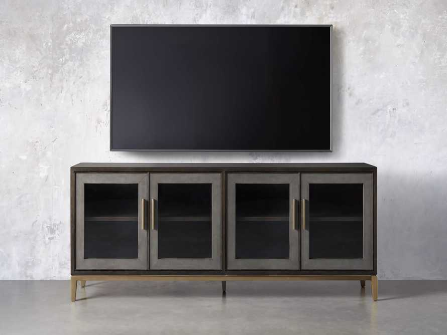 "Malone 71"" Media Console with Glass Doors in Dark Walnut, slide 6 of 8"